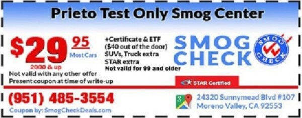 How Much Is A Smog Check >> 29 95 Smog Check Star Certified 24320 Sunnymead Blvd